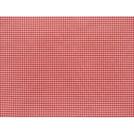 Fata de masa anti-pete Casa de bumbac, Ibiza, 280x 140 cm, patratele mici, rosu si alb