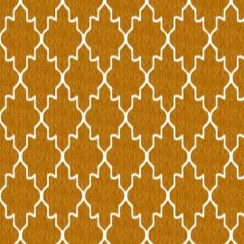 Set Cuvertura cu doua pernute, Matlasata ,Luxurio,  Tosca galben cu uni 220x240 cm