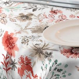 Fata de masa impermeabila, 180x140 cm Casa de bumbac, Adele 501 model floral, rosu