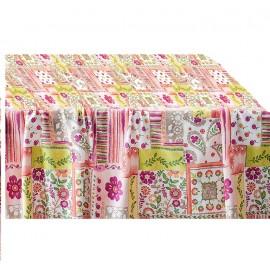 Fata de masa impermeabila (teflonata) Casa de bumbac, Meadow, 100x140 cm,  multicolor