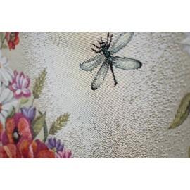 Set 2 fete de perna decorative, tesatura tip goblen, 45x45 cm, lavanda