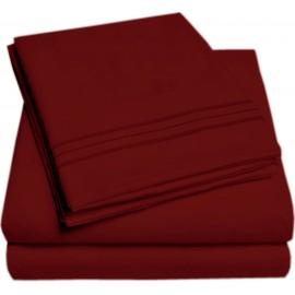 Set lenjerie de pat, cearceaf cu elastic, brodata, bumbac 100%, bleumarin