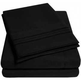 Set lenjerie de pat, cearceaf cu elastic, brodata, bumbac 100%, verde