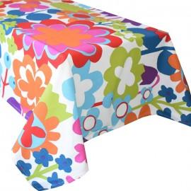 Fata de masa bumbac 100%, 180x150 cm, Casa de bumbac, Floral, multicolor