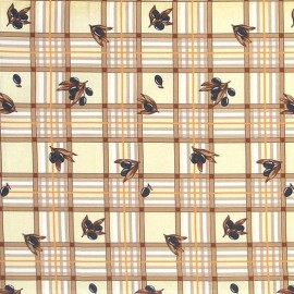 Fata de masa bumbac 100%, 180x150 cm, Casa de bumbac, Masline, Maro si bej