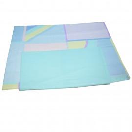 Lenjerie patut bumbac 100%, 3 piese, geometric, multicolor
