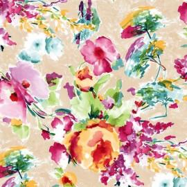 Fata de masa anti-pete Casa de bumbac, Miranda, 100x140 cm, Model floral, multicolor